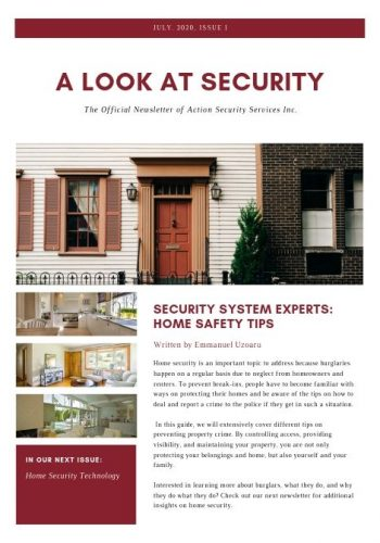Action Security Services Flyers